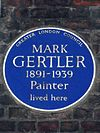 Mark Gertler - GLC blue plaque, 32 Elder Street Spitalfields.JPG