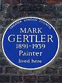 Mark Gertler - GLC blue plaque, 32 Elder Street Spitalfields.JPG