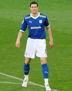 Mark Hudson (footballer, born 1982) - Hudson playing for Cardiff City in 2012