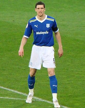 Mark Hudson (footballer, born 1982) - Hudson playing for Cardiff City in 2012