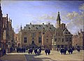 Market Place at Haarlem, Looking towards the Town Hall by Berckheyde.jpg