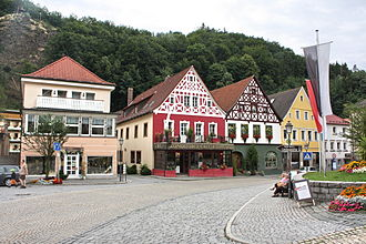 Bad Berneck im Fichtelgebirge - Market place