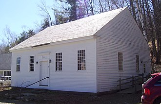 "Meeting house - The Town House of the small Vermont town of Marlboro was built in 1822 to be used for Town Meetings, which had previously been held in private homes. It is still in use today.  Nearby is an example of a religious building called a ""meeting house"", the Marlboro Meeting House Congregational Church."