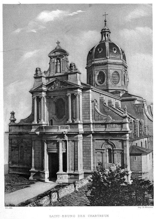 Façade de l'église Saint Bruno des Chartreux à Lyon.