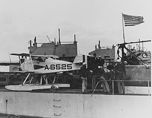 Martin MS - A Martin MS-1 on USS S-1 in 1923