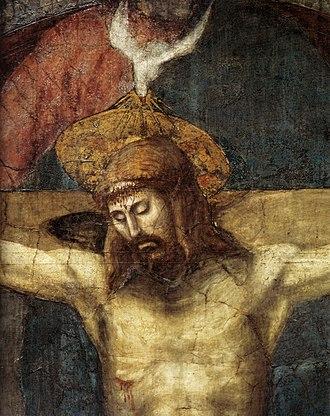Holy Trinity (Masaccio) - Image: Masaccio, trinità, dettaglio