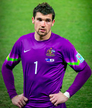 Mathew Ryan - Ryan playing for Australia at the 2015 AFC Asian Cup