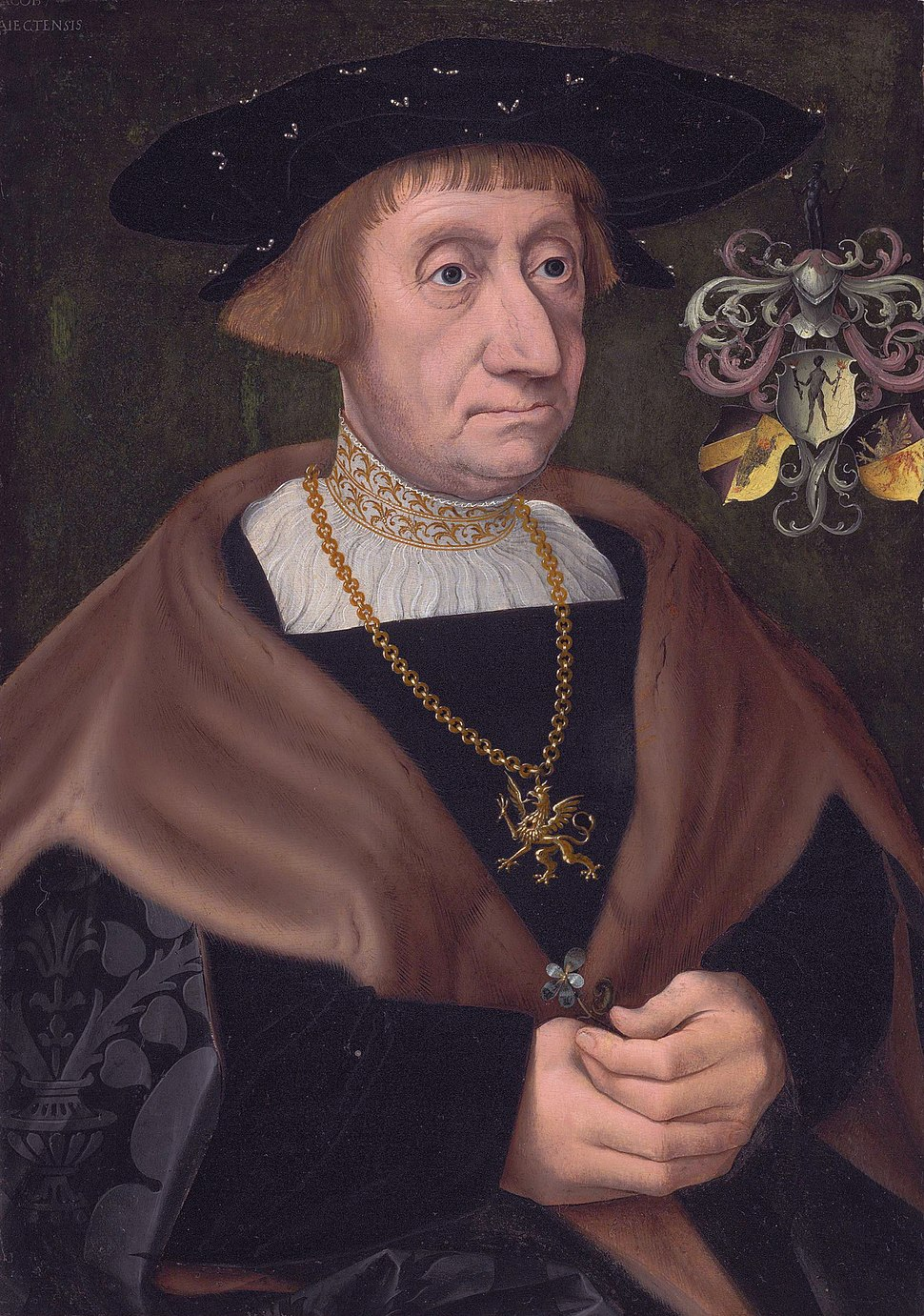 Mathias Mulich (1470-1528), Merchant in Lübeck, by Jacob Claesz van Utrecht