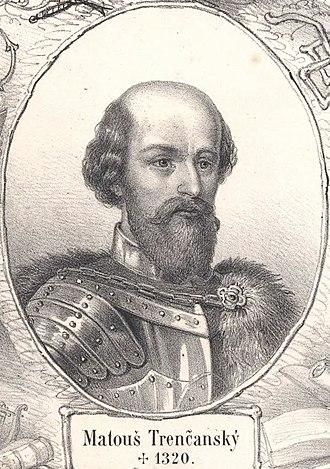Felician Záh - The powerful oligarch Matthew Csák, Felician's lord until around 1318
