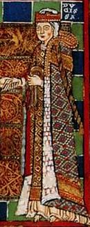 A medieval painting of the Empress Matilda