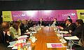 Mauricio Macri durante la reunión de gabinete junto al ex alcalde de Bogotá (7839641272).jpg
