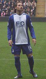 Zárate con la maglia del Birmingham City nel 2008.