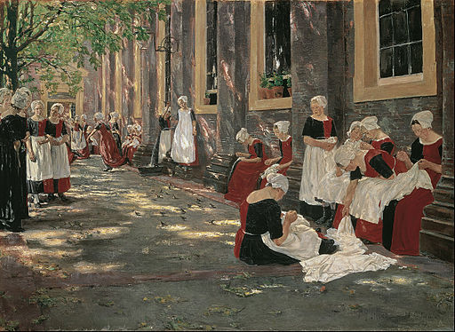 Max Liebermann - Free Period in the Amsterdam Orphanage - Google Art Project