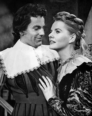 Patricia Cutts - Cutts as Milady de Winter and Maximilian Schell as  D'Artagnan in a 1960 television production of The Three Musketeers.