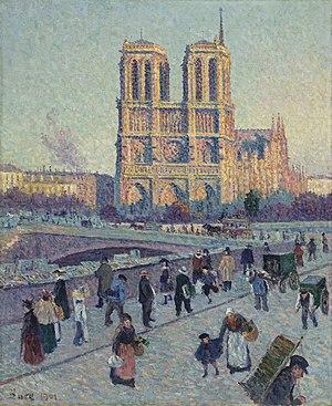 The Quai Saint-Michel and Notre-Dame - Image: Maximilien Luce The Quai Saint Michel and Notre Dame Google Art Project