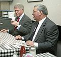 Mayor Thomas M. Menino and President William Clinton at Mike's City Diner (15488726677).jpg
