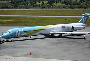 West Caribbean Airways Flight 708 - HK-4374X, the aircraft involved in the incident on July 27, 2005.