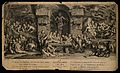 Medusa presiding over groups of satyrs who are gambling; rep Wellcome V0007665.jpg