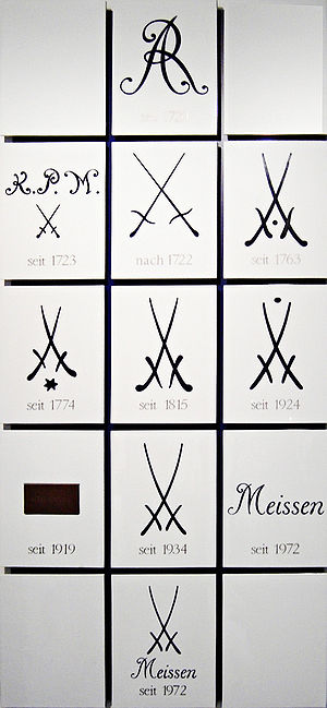 Meissen porcelain - Meissen trademarks