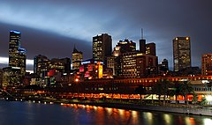 Melbourne At Night from Southbank Bridge.JPG