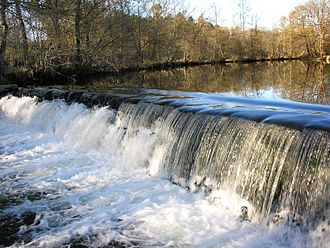 Rivers of Galicia - The Furelos, weir at Melide