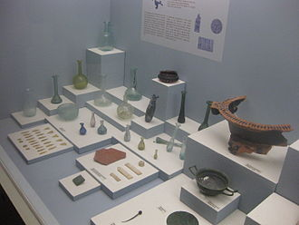 Argostoli - Exhibits at the Archaeological Museum of Argostoli.