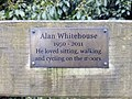 Memorial bench at Ham Wall - 2018-03-09 - Andy Mabbett - 01.jpg