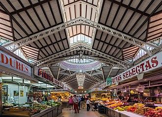 Mercado Central, Valencia - View of the interior.