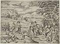 Mercurius vertelt het verhaal van Pan en Syrinx, RP-P-OB-35.342.jpg