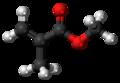 Methyl methacrylate molecule ball.png