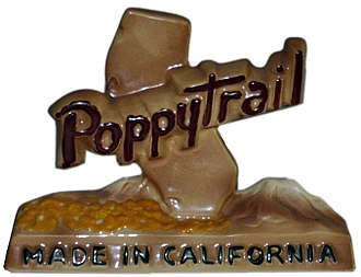 Metlox Pottery - Metlox Poppytrail advertising sign