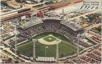 Miami Stadium - Inside view of the stadium