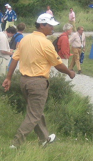 Michael Campbell - Michael Campbell walks to the 12th tee at the 2007 KLM Open.