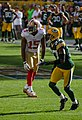Michael Crabtree and Sam Shields - San Francisco vs Green Bay 2012.jpg