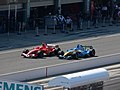 Michael Schumacher and Fernando Alonso 2006 United States GP (179685135).jpg