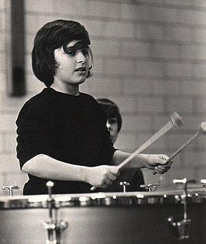 Michael Alden Bayard - Bayard playing timpani at age 14