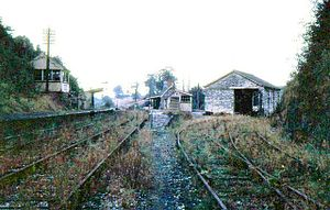 Midsomer Norton railway station - The abandoned station in 1967