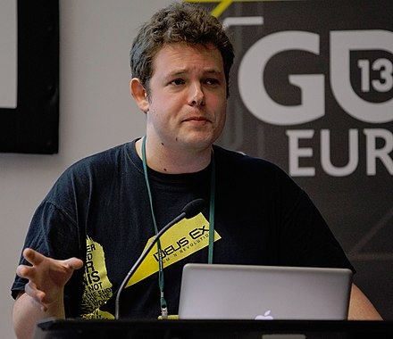 Mike Bithell at the 2013 Game Developers Conference Europe Mike bithell GDC Europe 2013 cropped.jpg