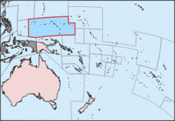Location de the Federated States of Micronesia