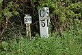 Milepost on Gloucester and Sharpness Canal - geograph.org.uk - 781840.jpg