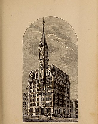 New-York Tribune - The New York Tribune building, today the site of One Pace Plaza in lower Manhattan.