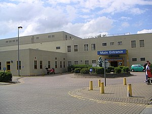 Milton Keynes University Hospital - Milton Keynes Hospital entrance
