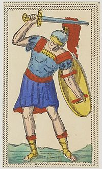 Minchiate card deck - Florence - 1860-1890 - Swords - 11 - Jack.jpg