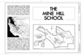 Mine Hill School, New Almaden Quicksilver Mine County Park, New Almaden, Santa Clara County, CA HABS CAL,43-ALMA,5- (sheet 1 of 3).png