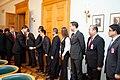 """Ministru prezidents Valdis Dombrovskis tiekas ar pasaules vadošo telekomunikāciju risinājumu ražotāja """"Huawei Technologies Investment"""" vadību (6429645055).jpg"""