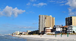 Oceanfront at Miramar Beach, Florida, September 2014.