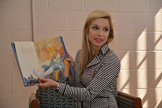 Kira Kazantsev - Kazantsev reads to children living at Aberdeen Proving Ground, a US military installation in Maryland.