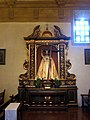 Mission San Carlos Borromeo de Carmelo (Carmel, CA) - basilica interior, Christ the King shrine.jpg