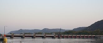Lock and Dam No. 6 - View from downtown Trempealeau, Wisconsin