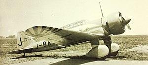 Mitsubishi Ki-15 - Mitsubishi Ki-15 Karigane aircraft, (registration J-BAAI) sponsored by the newspaper  Asahi Shimbun.